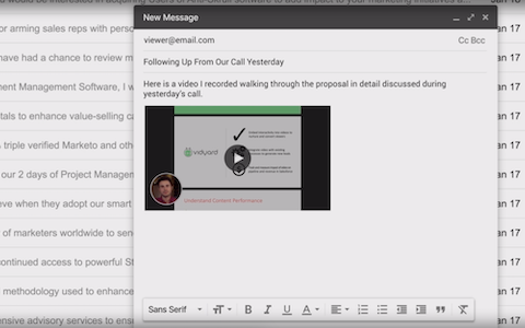 Vidyard - Insert Video in Email